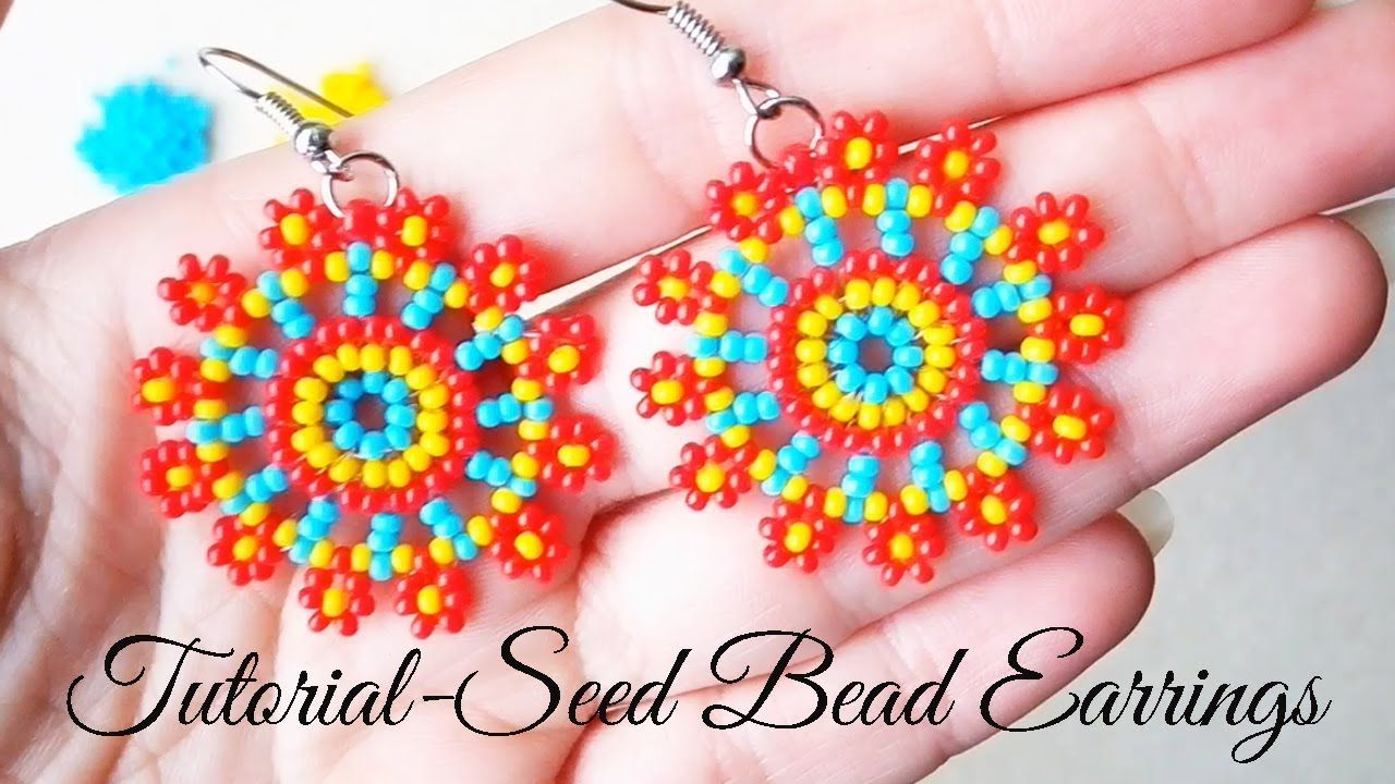 Colorful Seed Bead Earrings - Tutorial #håndarbejde