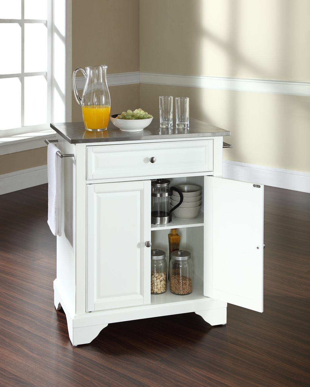 LaFayette Kitchen Island with Stainless Steel Top | Home | Pinterest ...