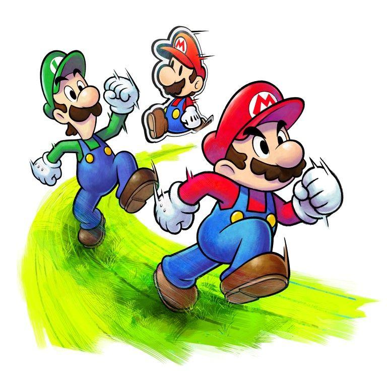 Mario Luigi Paper Jam Various New Artwork With Images