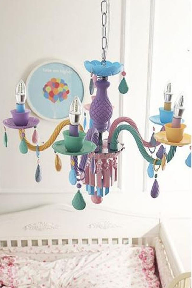 Macarons Color Crystal Chandelier Kids Room Lighting Kids Room