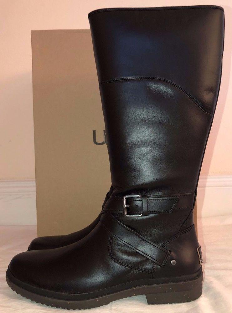 6fe44428a3e Womens Ugg Australia Evanna Black Tall Boots #UGGAustralia ...