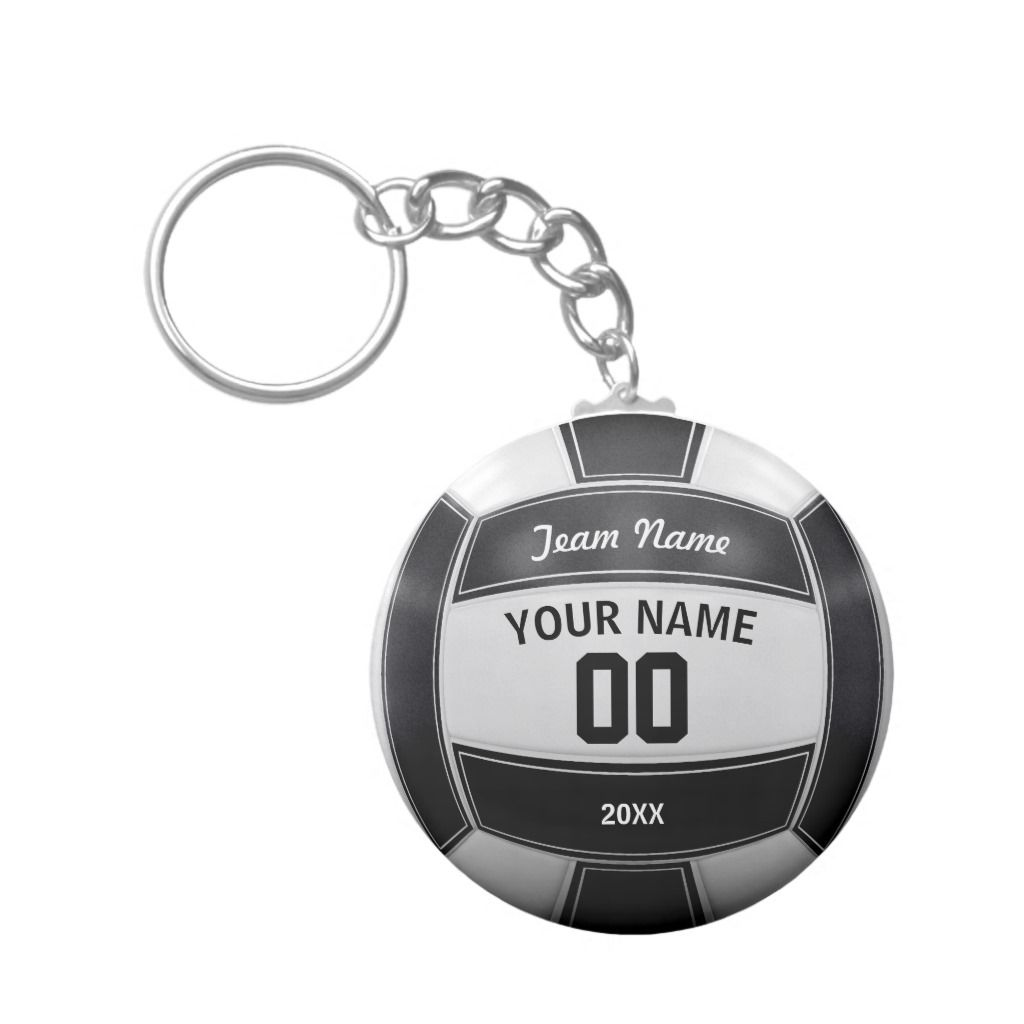 Volleyball Player S Name Year Team Black And White Keychain Adult Unisex Size 2 25 Pale Blue Volleyball Players Volleyball Volleyball Designs