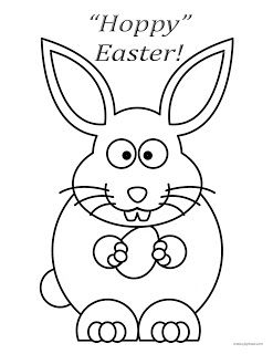 easter coloring page hoppy easter bunny  easter coloring pages coloring pages free printable