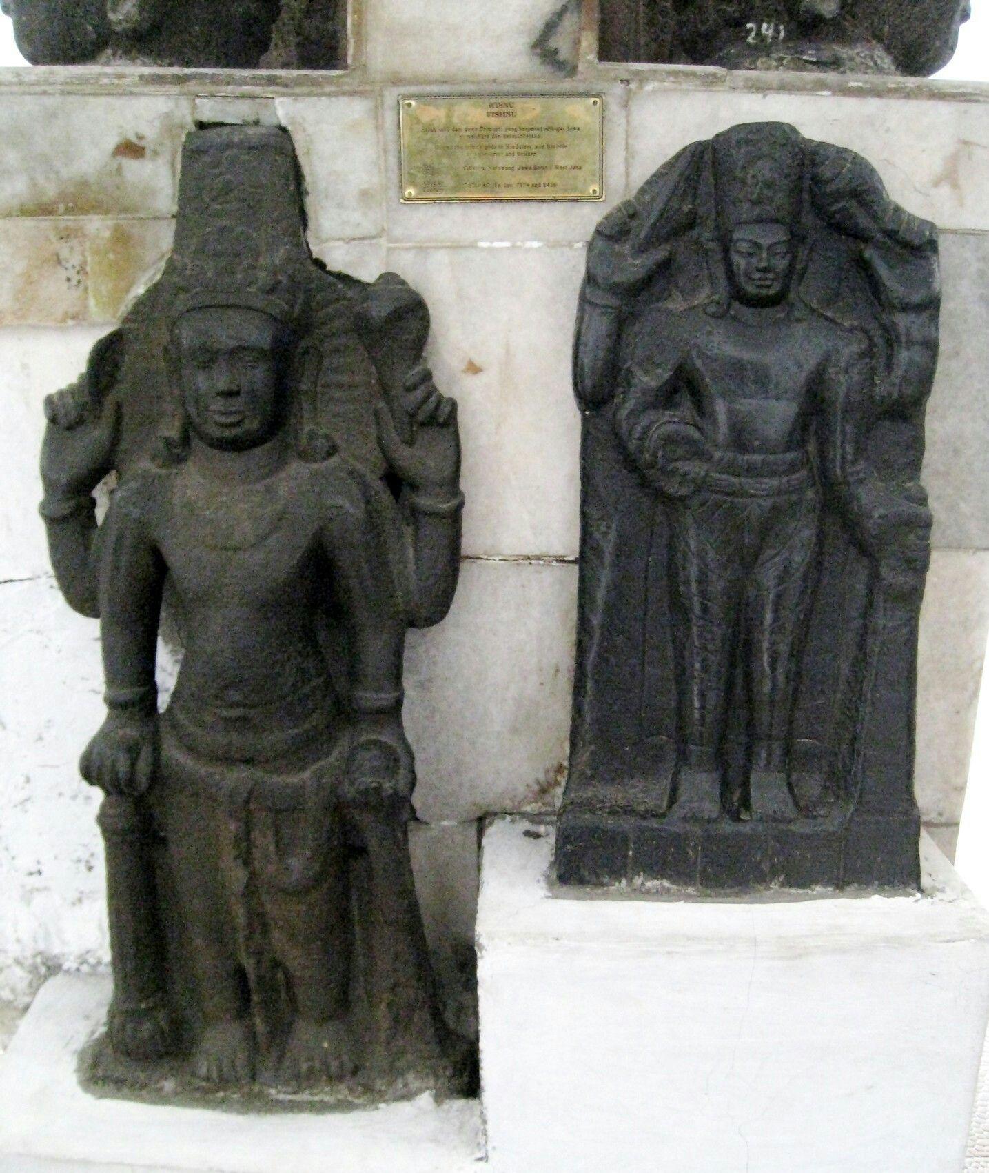 Two Vishnu statues discovered in Cibuaya site, Karawang