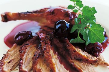 Roast duck with cherry sauce. Something to tackle during my life in college... or maybe in my life after college, seeing that I'm kind of busy right now...