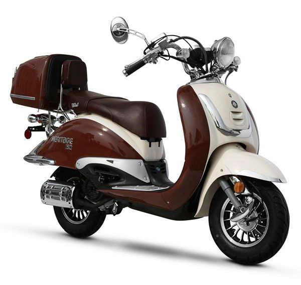 new vintage bms heritage150cc moped gas scooter bike retro motorcycle free ship mopeds. Black Bedroom Furniture Sets. Home Design Ideas