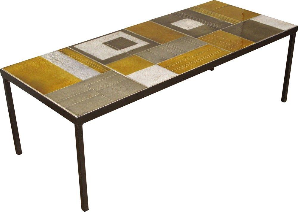Table Basse En Céramique De Vallauris Roger Capron 1960
