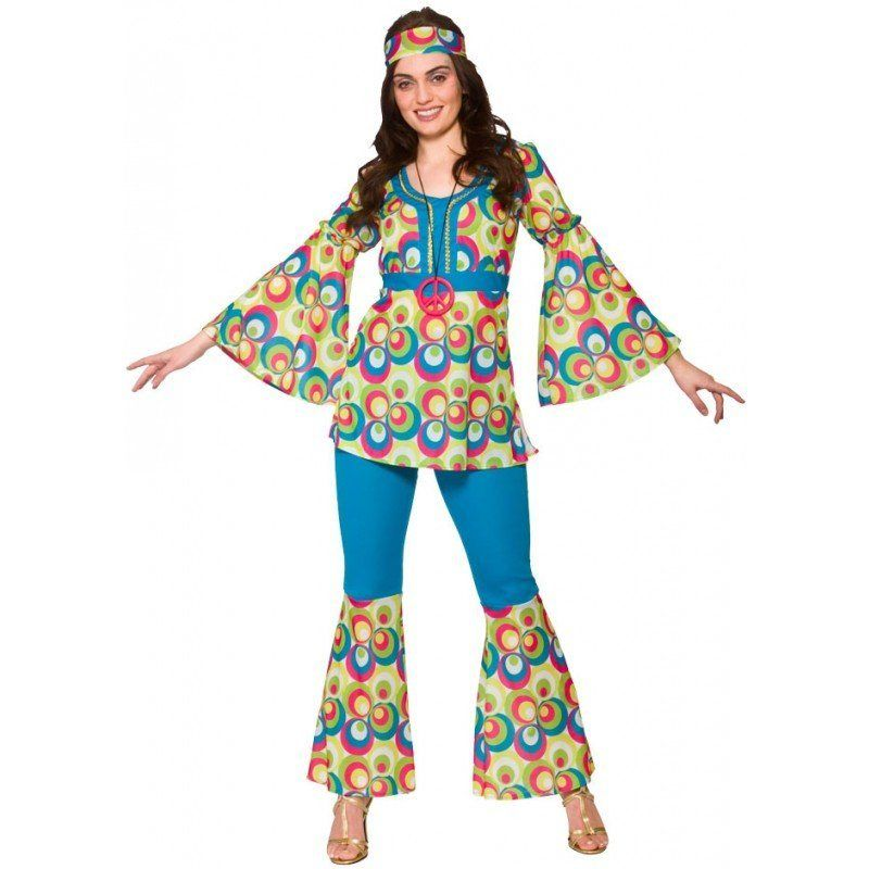 funky stacy hippie kostüm farbenfrohes muster online