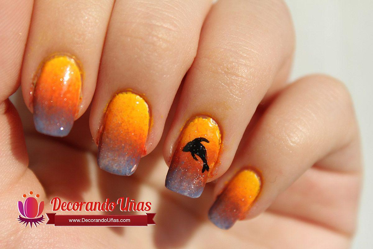Uñas decoradas con delfines Paso a Paso | Decoración de Uñas ...