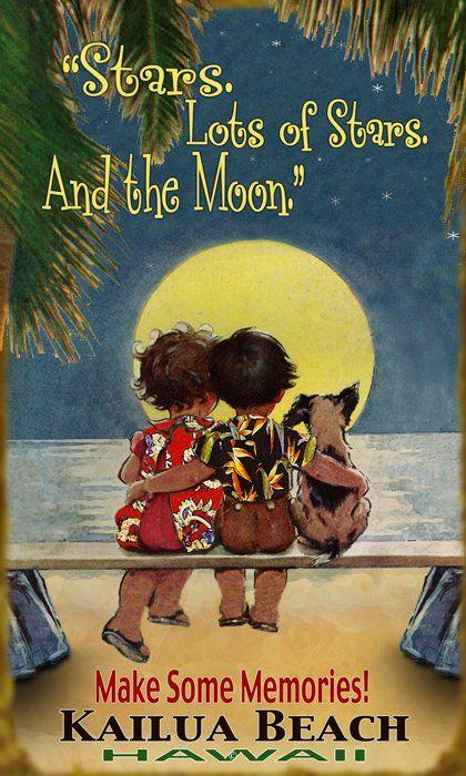 Puppy Love (in Aloha shirts!) (527H) Hawaiiana, Beach, Coastal -Hawaiiana Vintage Hawaii - Hawaiiana