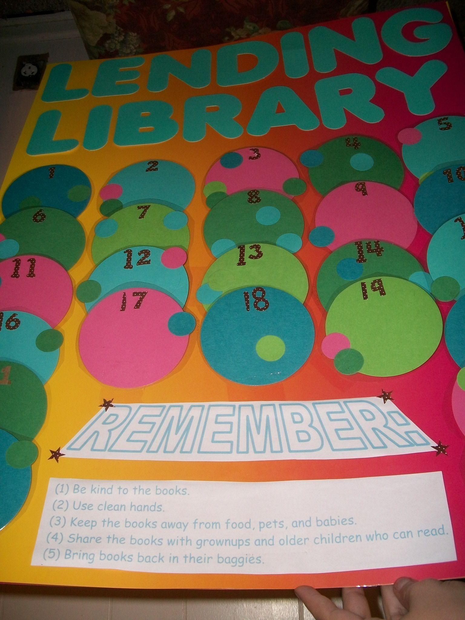 Lending Library Poster -rebekah . Webb 2012