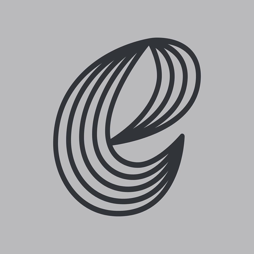 The letter e. This is the part of a letter series done by Zachary Spurling #letters # letter #lettering #handlettering #design #graphicdesign #graphicdesigner #type #typography #customtype #letterform #typedesign