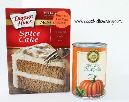 Two Ingredient Pumpkin Spice Cake Recipe With Images Spice