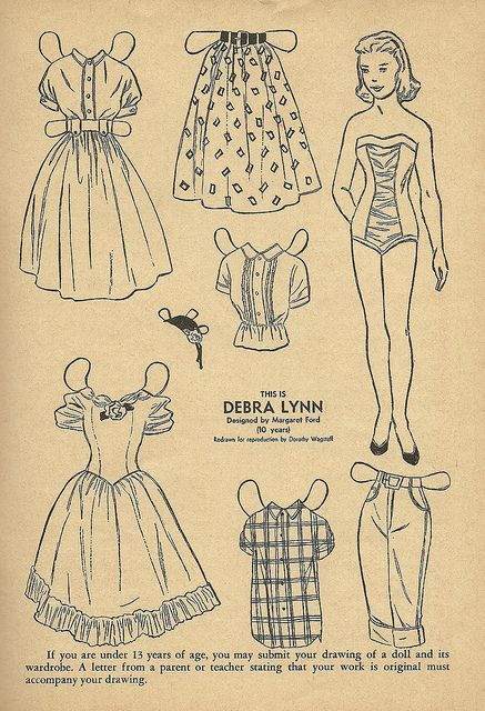 debra lynn paper doll Paper dolls past and present