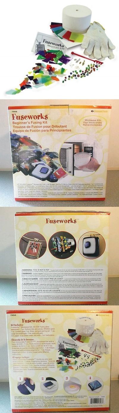 Other Gl Art Supplies 3099 Fuseworks Microwave Kiln Kit Stained Fusing New