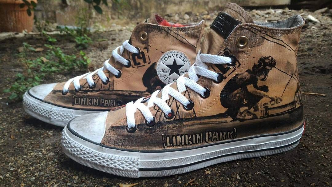 "4a36271c4172 Converse Chuck Taylor ""Linkin Park - Meteora ( custom )"