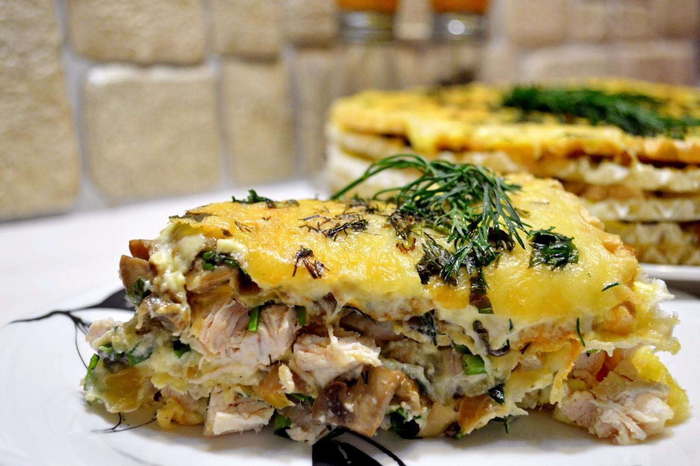 Закусочный «Наполеон» с грибами