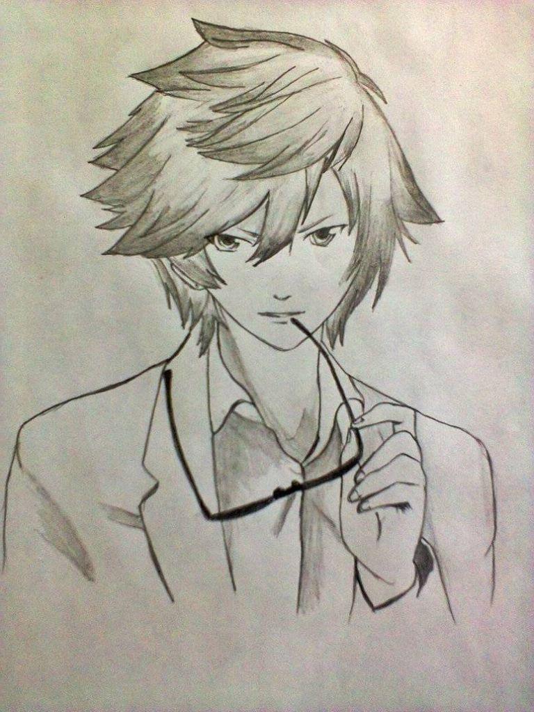 Boys Pencil Sketch 2019 Anime Drawings Anime Sketch Anime Guys With Glasses