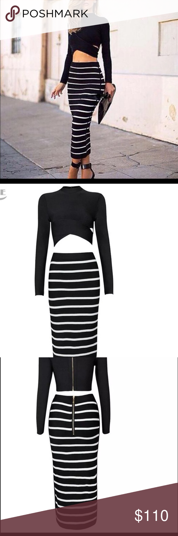 New piece long sleeve bandage top u skirt boutique customer support