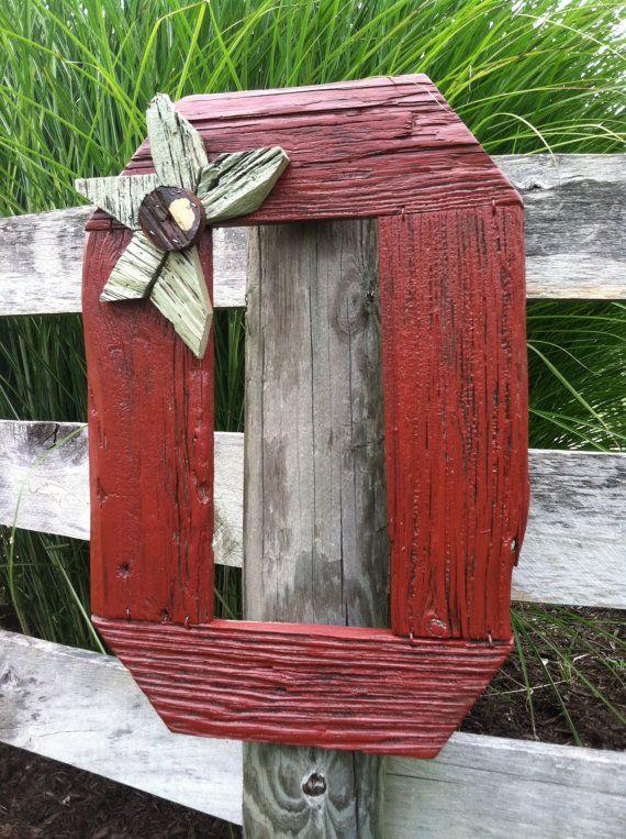 Repurposed Barn Wood Block O Buckeye Sign Country Home