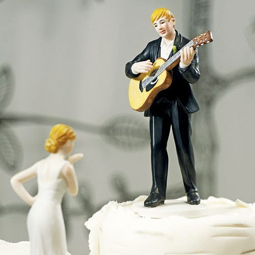 """Love Serenade"" Guitar Playing Groom Cake Topper"