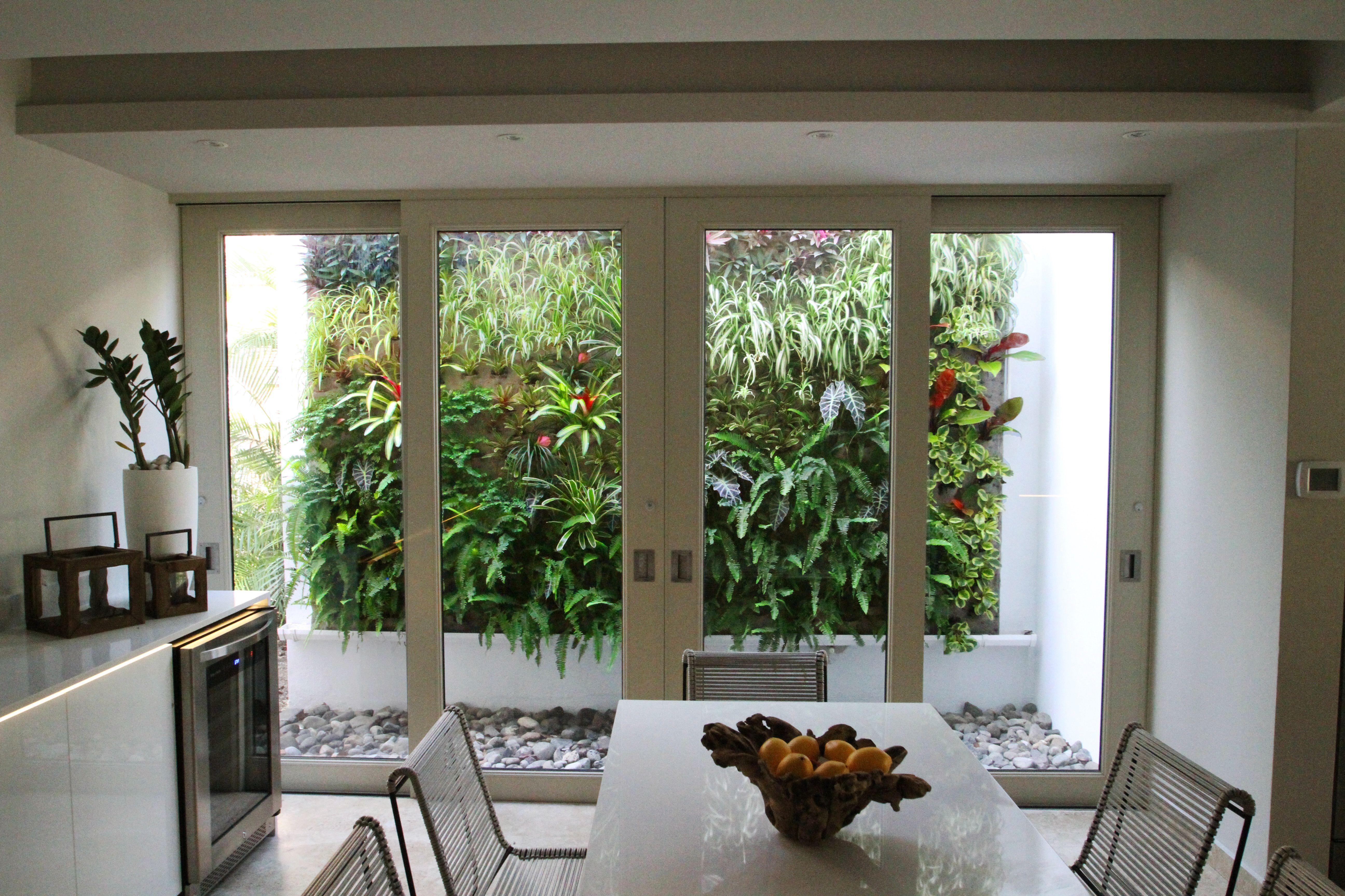 Interior patio vertical garden   Vertical garden, Vertical ... on Green Wall Patio id=29038