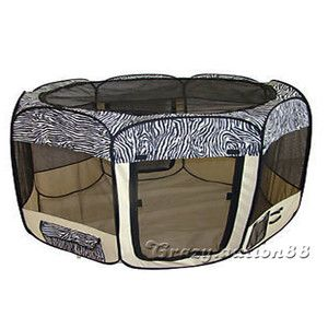 New Pet Dog Cat Tent Puppy Playpen Exercise Play Pen Crate Carrier Enclosure CAG | eBay 32.99