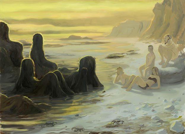 """Tilo Baumgartel, """"Tong"""", oil on canvas, 160x220cm, 2011"""