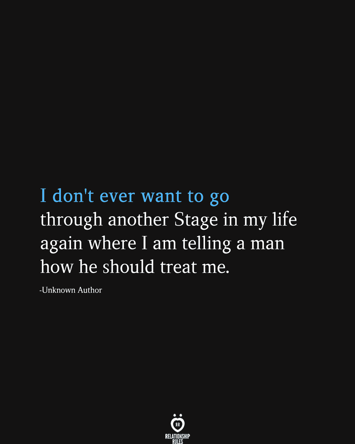 I Don't Ever Want To Go Through Another Stage In My Life Again