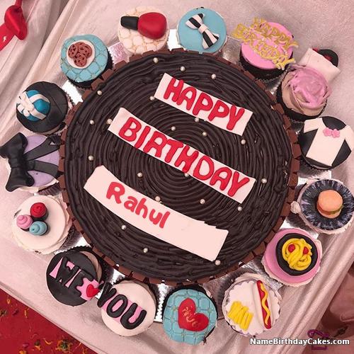 Happy birthday rahul cake hd photos