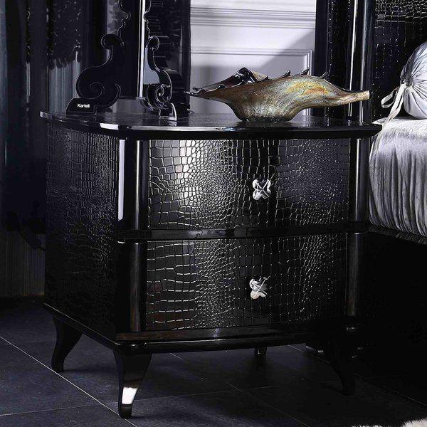 Best Janine 2 Drawer Metal Nightstand Goth Home Decor 640 x 480