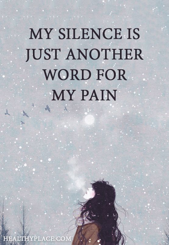Depression quote: My silence is just another word for pain ...