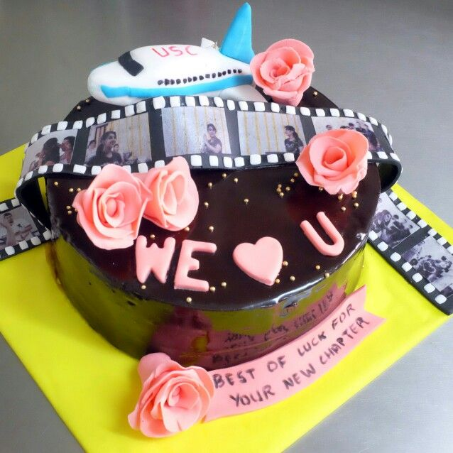 Farewell And Best Of Luck Cake With Images Themed Cakes Cake