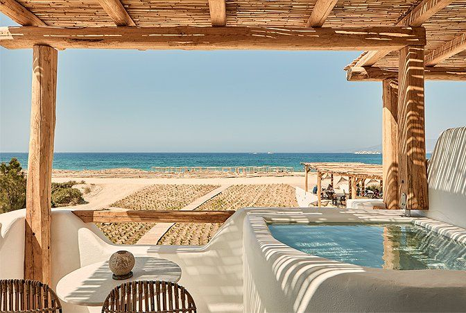 Suites On The Beach Naxos Greece Small Luxury Hotels Boutique