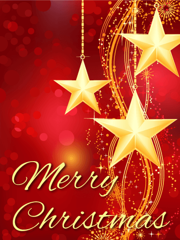 Golden Christmas Star Card Birthday Greeting Cards By Davia Merry Christmas Wishes Xmas Greetings Best Christmas Wishes