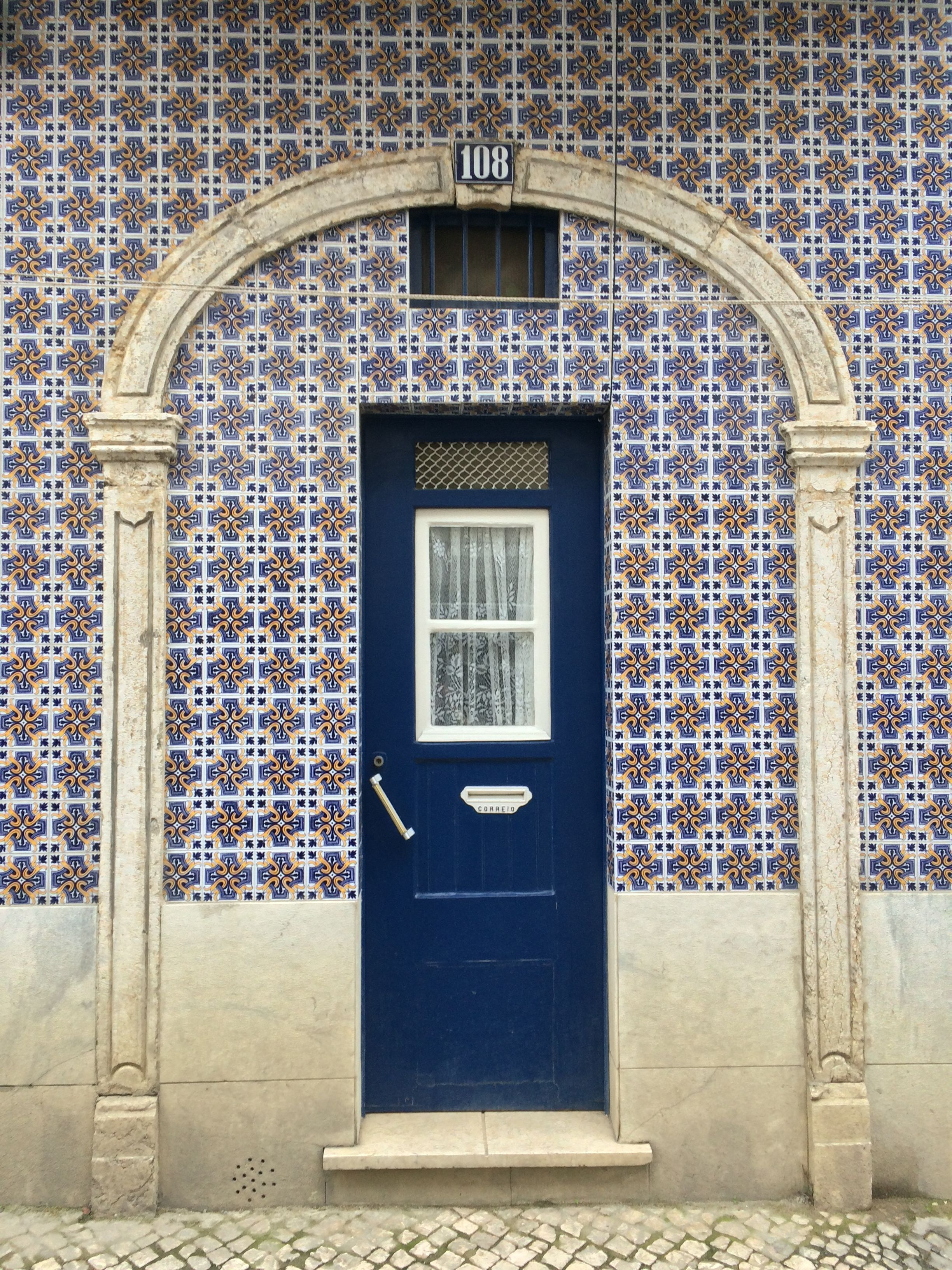 Alfama, Lisboa Casas de pedra, Portugal e Hall de entrada