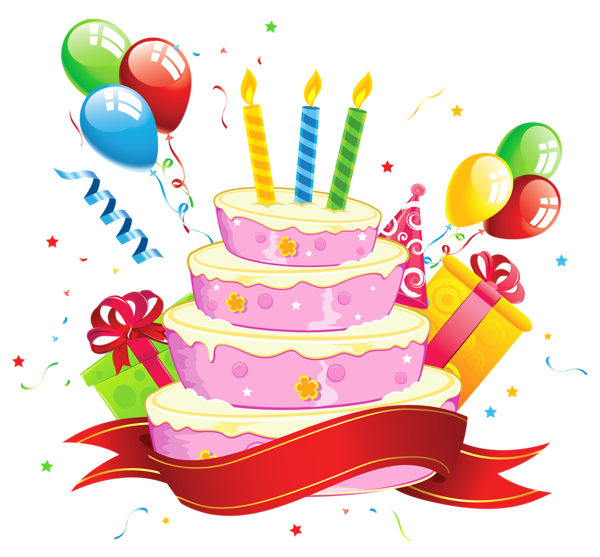 Birthday Cake Transparent Clipart HB2U Pinterest Birthday