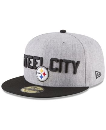 new product e95c8 c4fcf New Era Pittsburgh Steelers Draft 59FIFTY Fitted Cap - Gray 7