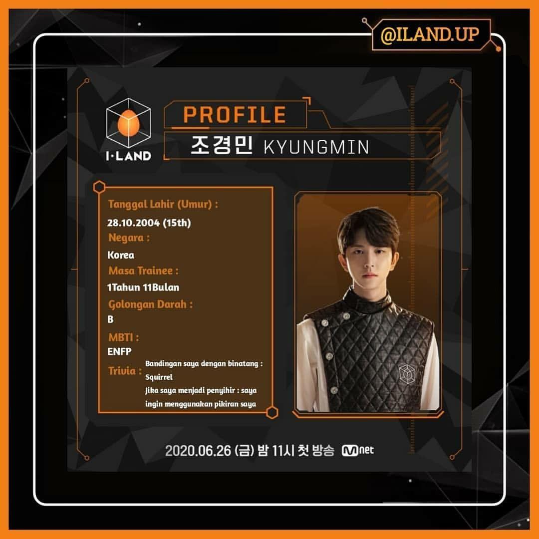 Profile Kyungmin I Land Trivia Aladdin Infj