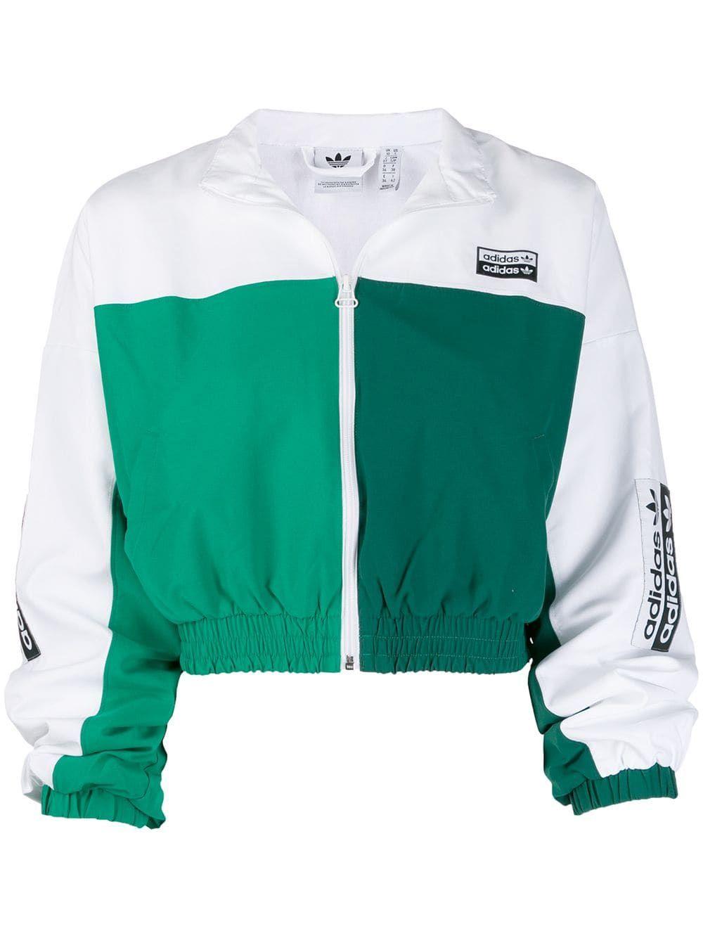 Adidas Cropped Track Jacket Farfetch Adidas Crop Track Jackets Jackets [ 1334 x 1000 Pixel ]