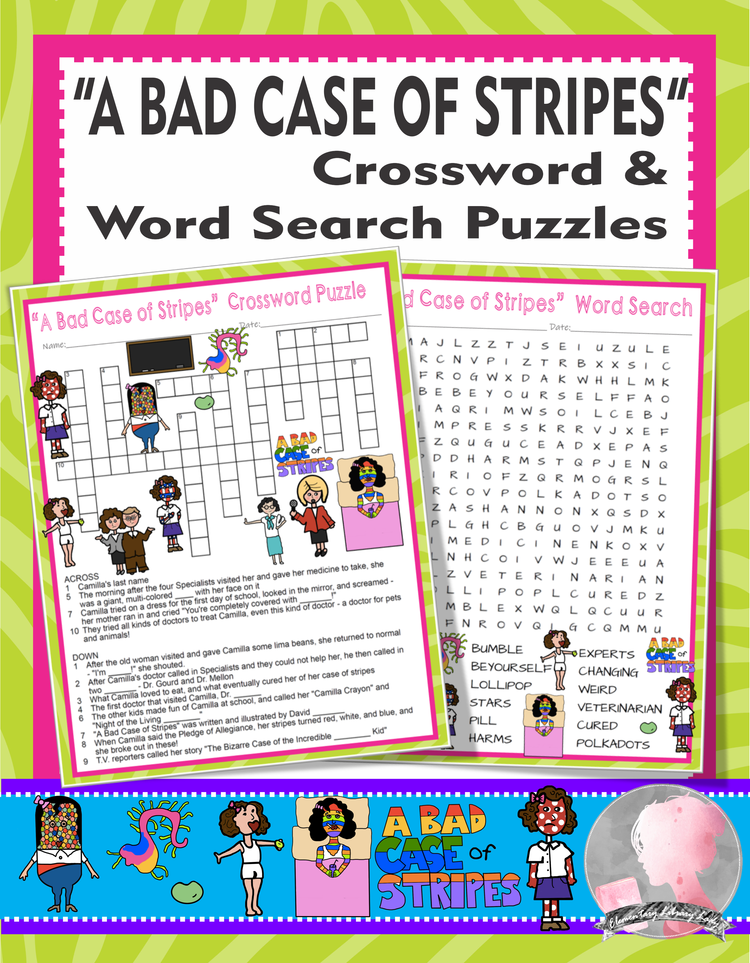 A Bad Case of Stripes Activities David Shannon Crossword