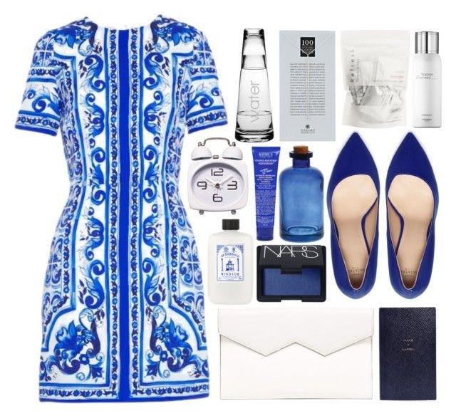 """did we help?"" by mariimontero ❤ liked on Polyvore featuring Dolce&Gabbana, Zara, Fabiola Pedrazzini, Smythson, Kiehl's, NARS Cosmetics, Susquehanna Glass, Dogeared and Hermès"