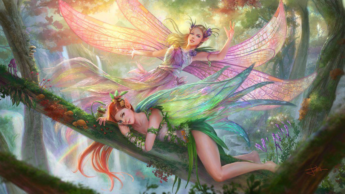 этот редкие картинки с феями и эльфами зимние