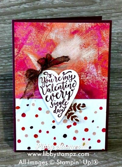 Painted with Love Blog Hop. Painted With Love DSP; Sure Do Love You Bundle; Copper Embossing Powder; Copper Trim & Rich Razzleberry