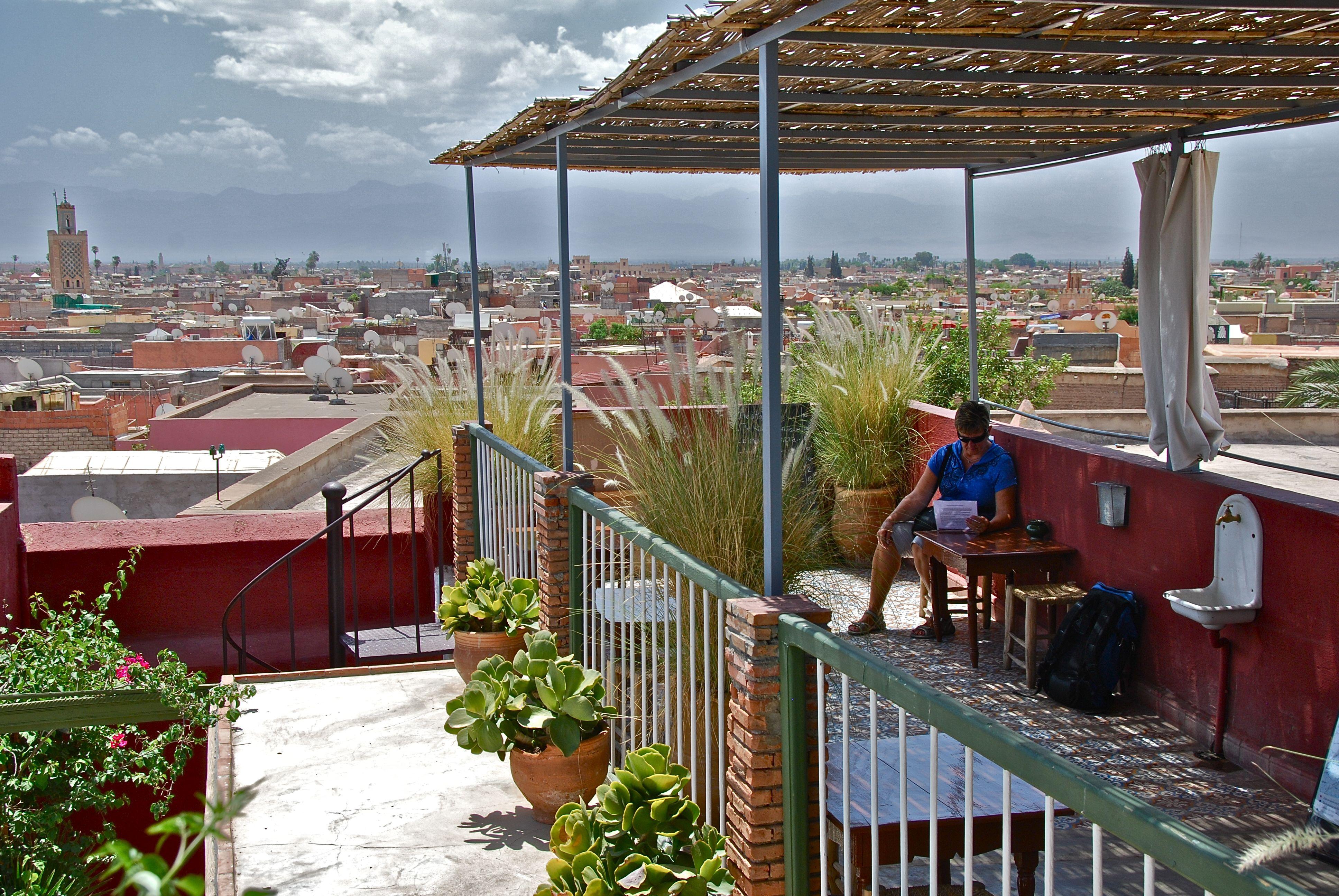 Cafe At Maison De La Photographie Marrakech Morocco