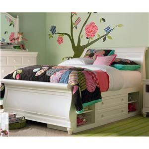 SmartStuff full size classic sleigh bed lends a cozy tranquil appearance to any bedroom.  sc 1 st  Pinterest & SmartStuff full size classic sleigh bed lends a cozy tranquil ...