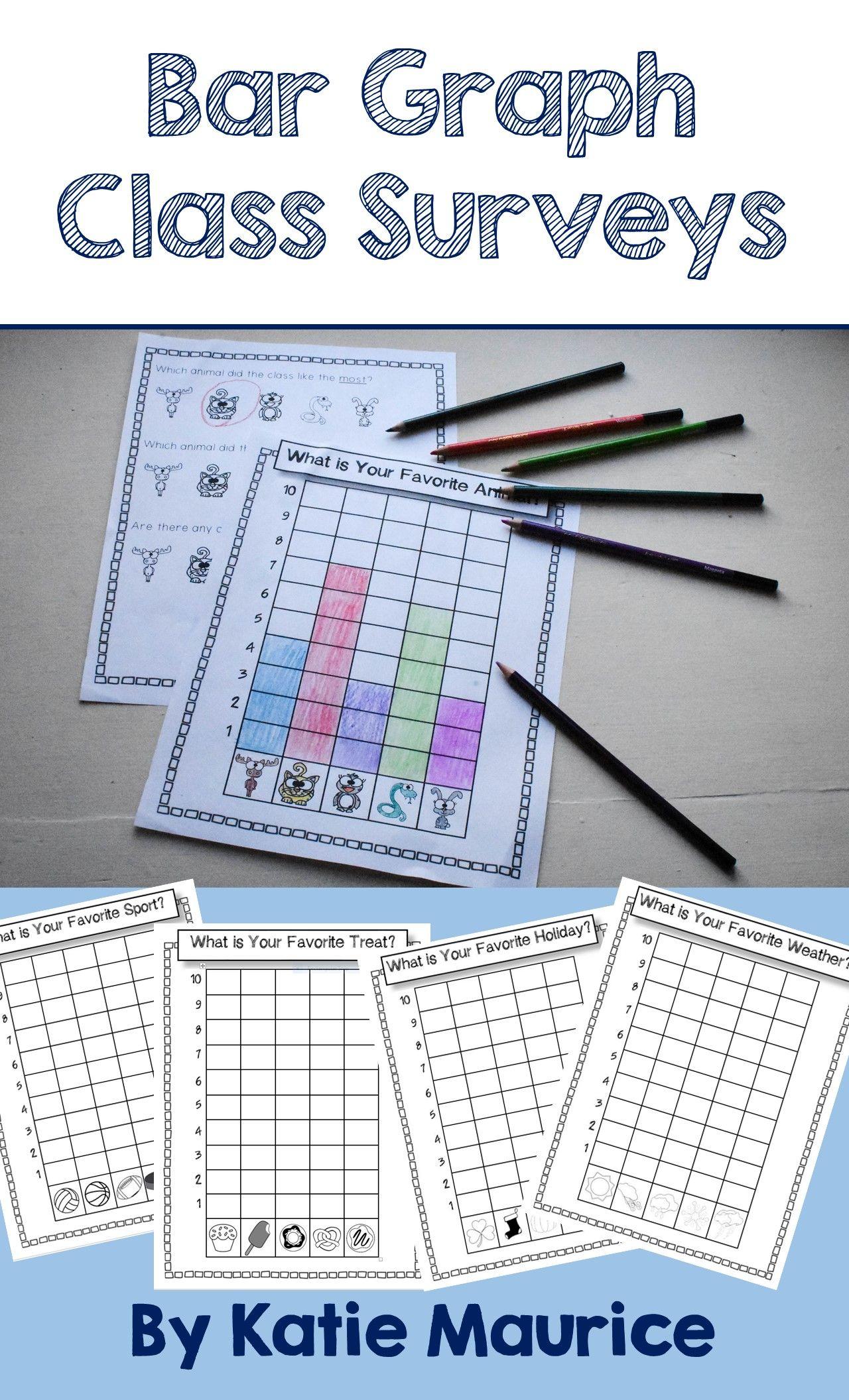 Bar Graph Class Surveys With Pictures