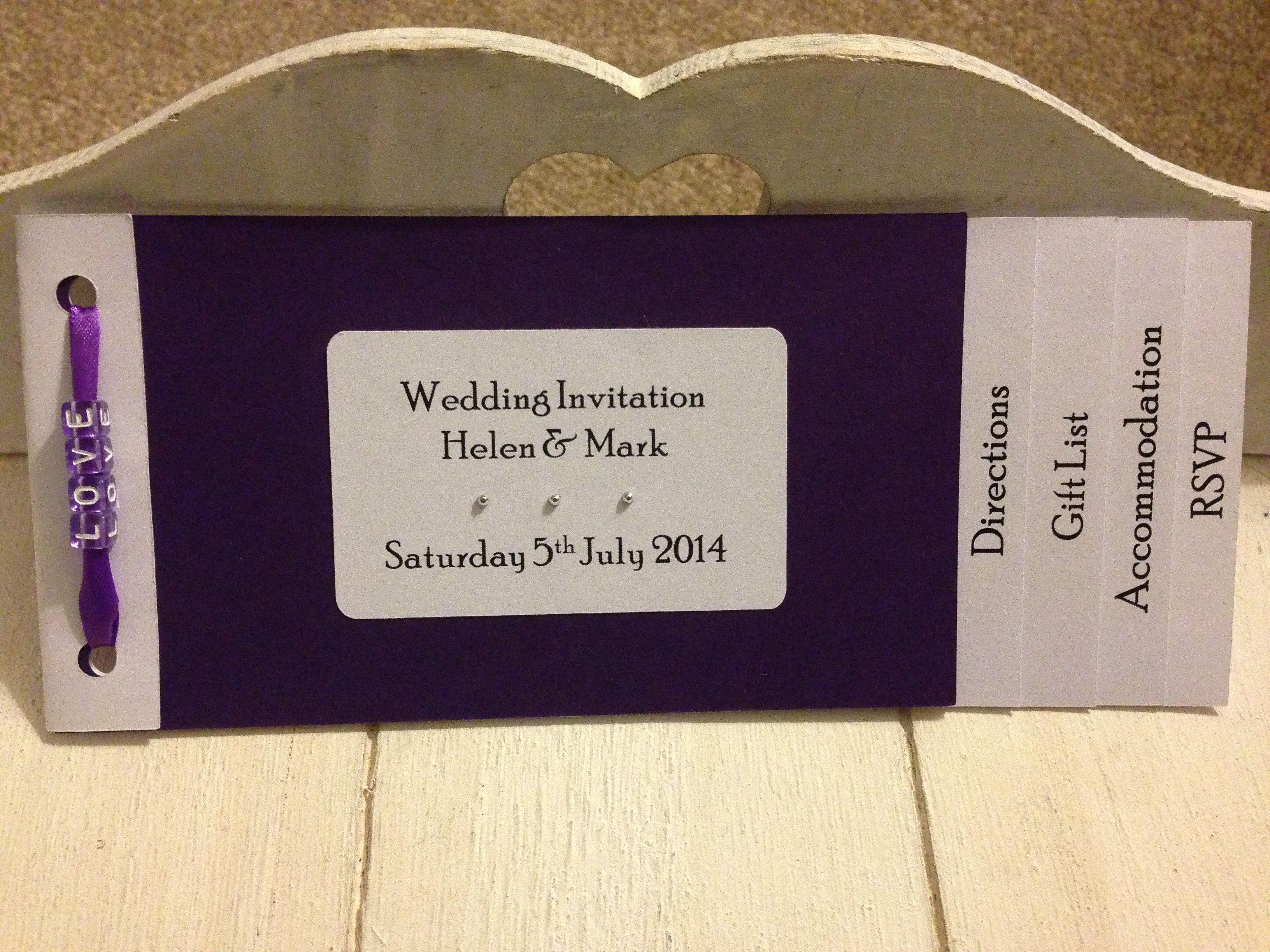 New design Cheque book invitation The
