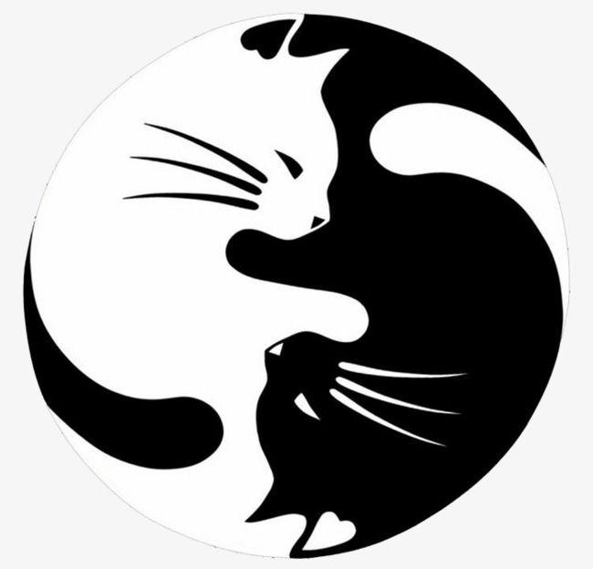 Frische Schwarzweiss Jadekatze, Katze Clipart, Frisch, Reizend PNG und PSD Datei zum kostenlosen Download