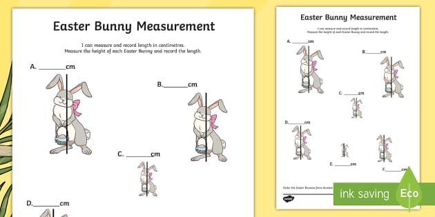 easter bunny measurement activity sheet australia easter maths easter australia mathematics. Black Bedroom Furniture Sets. Home Design Ideas